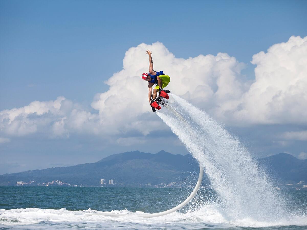 Man Water Gliding